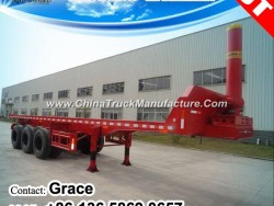 Container End Dumping Semitrailer, Rear Tipper Flatbed Semi Trailer for Sale