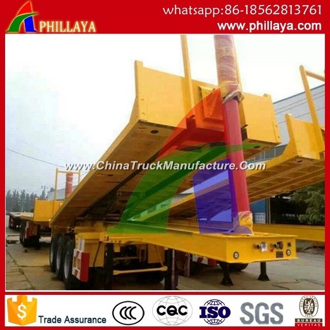 Skeleton Hydraulic Self Dump Tipping Container Semi Trailer