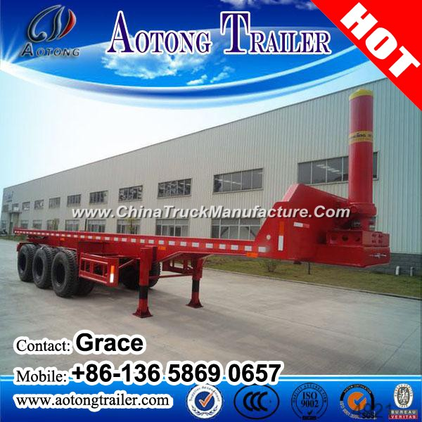 20FT 40FT Container Chassis End Dump Flatbed Semi Trailer for Sale