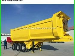 Heavy Duty 60 Ton Tri Axle Hydraulic Tipper Trailer