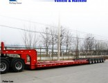 60-120tons Low Bed Trailer/Lowboy Truck Semi Trailer