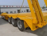 3 Axles 60ton Gooseneck Low Bed Flatbed Trailer