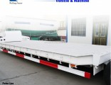 3axles Low Bed Flatbed Utility Cargo Semi Truck Trailer