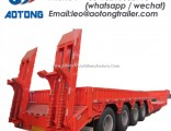 2-Axle 40ton Excavator Transportation Low Bed Trailer/Lowboy Truck Trailer