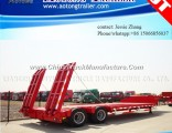Double Axles Low Bed Semi Trailer Truck Trailer
