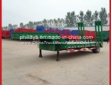 Phillaya Made 1-2 Axles 20-40 Tons Lowbed Truck Low Bed Semi Trailer Semitrailer