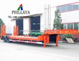 2 3 4 Axles Lowbed Low Bed Heavy Loader Semi Truck Trailer