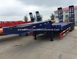 3 Axle 60ton Low Bed Semi Trailer