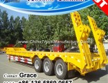 Factory Lowbed Semi Trailer for Sale (capacity customised)