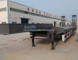 3 Axle Heavy Equipment Lowboy Flatbed Trailer for Sale
