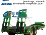 80 Tons 2 Lines 4 Axles Low Bed/Lowboy Truck Trailer