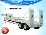 2/3 Axles Lowboy Trailer for Heavy Machine Transportation