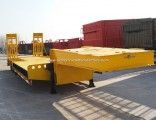 Cheap 55 Ton Heavy Equipment Extension Low Loader Lowboy Trailer