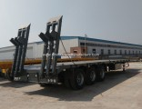3 Axle 60 Ton Low Bed Flatbed Trailer for Sale