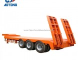 40FT 3 Axle Low Bed Chassis Semi Trailers for Sale