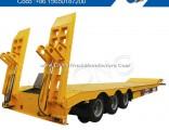 3 Axles Hydraulic Ladder Low Bed Semi Trailer
