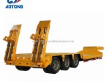 China Aotong 3 Axle Gooseneck Low Bed Trailers for Sale