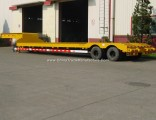 3 Lines 6 Axles Heavy Duty Lowboy Trailer Lowbed Trailer