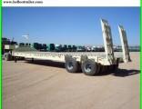 2 Axle Heavy Duty Lowbed Truck Semi Trailer