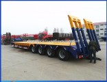 4 Axle 80t-120t Lowbed Low Loader Truck Trailer