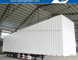 Three Axles Van Container Semi Trailer Box Cargo Truck Trailer