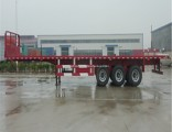 35-60t 3 Fuhua Axles 20FT 40FT Container/Utility/Cargo Flatbed/Platform Truck Semi Trailer