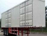 Hot Sale Carbon Steel 3 Fuhua/BPW Axles Van/Box Truck Semi Trailer for Cargo Transport