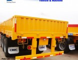 3 Axles Compartment Side Wall Cargo Truck Semi Trailer