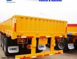 3 Axles Compartment Side Wall Cargo Truck Semi Trailer
