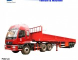 3axle Truck Side Wall Bulk Transport Cargo Semi Trailer