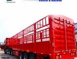 Tri Axles Long Straight Fence Barrier Cargo Truck Semi Trailer with High Barrier