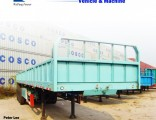 60ton 3axles Side Wall/Side Drop/Side Board/Bulk Cargo Truck Semi Trailer
