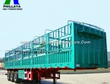 Bulk Cargo Livestock Transport Semi Truck Animal Trailer