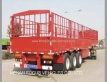 China Manufacturer Livestock, Sugar Cane, Bulk Cargo Transport 60 Ton Fence Semi Trailer