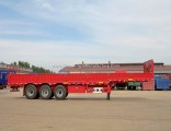 40-60 Tons Cargo Transport 3 Axles Side Wall/Plate Semi Trailer