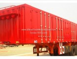 Heavy Duty 2-3 Axles 35-60t Van Type Box Cargo Transport Semi Trailer with Carbon Steel