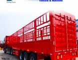 Fence/Stake Semi Trailer for Bulk Cargo/Animal/Grain Transport
