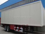 Flywheel 3 Axle Box/Van Type Cargo Semi Trailer with Fuwa Valex Axle for Bulk Goods Transport