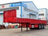 3 Fuhua/BPW Brand Axles 12tyres Side Wall/Fence/Sideboard Utility Cargo Semi Trailer