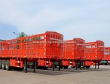 High Quality Tri-Axle 60 Tons Stake/Fence Truck Semi-Trailer for Livestock Transport