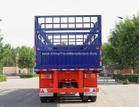 3 Fuhua/BPW Axles 60 Tons Stake/Fence Truck Semi-Trailer for Livestock Transport