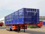 Tri-Axle 60 Tons Stake/Fence Truck Semi-Trailer for Livestock Transport