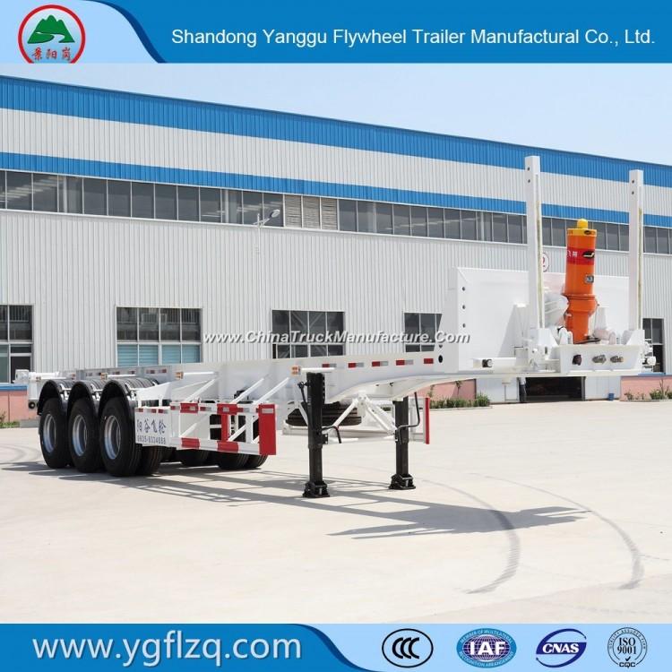 3 Axles Rear Dump/Tipper Skeleton Semi Trailer for 20/40FT Container Transport