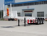 3 Axles Rear Dump Skeleton Semi Trailer for 20FT/40FT Container Transport