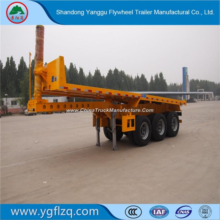 20FT/40FT Transport 3 Axles Rear Dump Skeleton Semi Trailer for Container Transport