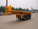 20FT/40FT Transport 3 Axles Rear Dump Skeleton Semi Trailer for Container Transport