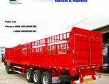 Four Axle 40tons-80tons Payload Stake/ Fence Cargo Semi-Trailer for Transportation with Back Door
