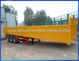 3 Axles 40ton Fence Semi Trailer with Side Wall