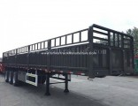 50ton 60ton 3 Axles Side Wall Fence Cargo Box Trailers