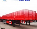 Flatbed Trailer Side Wall Fence Cargo Truck Trailer for Sale
